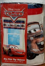 """Disney-Pixar Cars Pole Top Valance - 60"""" x 15"""" - BRAND NEW IN PACKAGE - $29.69"""