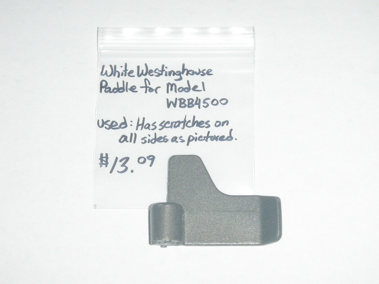 White Westinghouse Bread Maker OEM Paddle for Model WBB4500