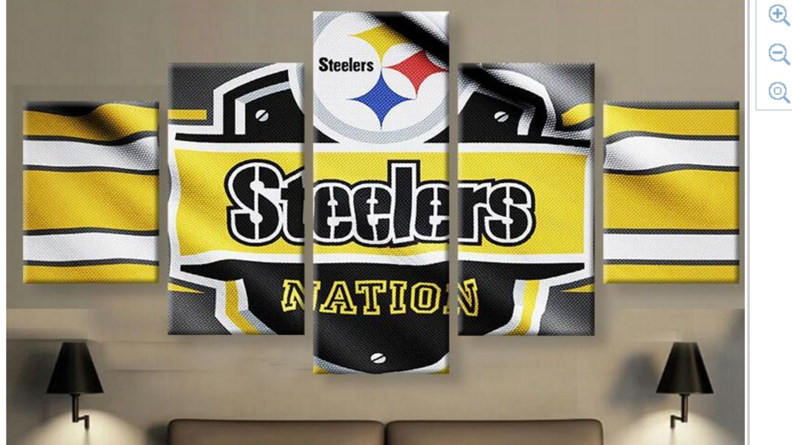 Pittsburgh Steelers Large Framed Canvas Wall and 50 similar items