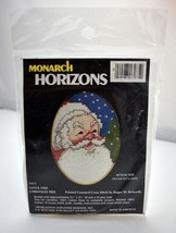 Santa & Christmas Tree Printed Counted Cross Stitch Kit Monarch Horizons... - $6.60