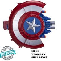 Captain America Civil War Blaster Reveal Shield Nerf Darts Kids Toy Fun Marvel - $22.76