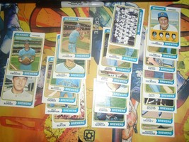 1974 1975 Topps Baseball Brewers Lot 46 Cards Poor-Ex Cond - $13.50