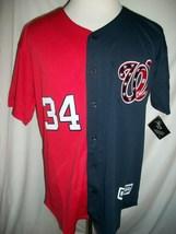 "Bryce Harper Washington Nationals Red / Blue ""Split"" Majestic MLB Jersey... - $44.00"
