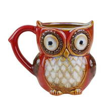 Cute Porcelain Coffee Cup Owl Home Bar Decoration Art Color Ornaments Dr... - $11.99