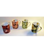 4 piece set Coffee Mugs with Fruit Design - $11.88