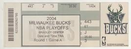 DETROIT @ MILWAUKEE 4/18/04 NBA Playoff Ticket! Pistons 108 Bucks 82 - $4.20