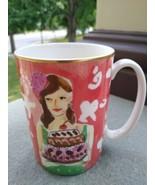 Kate Spade  LENOX ILLUSTRATED  BIRTHDAY Coffee Mug JUST DESSERTS 4.25 in... - $19.99