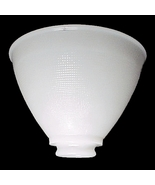 """Allegheny Reflector Lamp Shade 8"""" Milk Glass IES Opaque White Waffle Tab... - $17.95"""