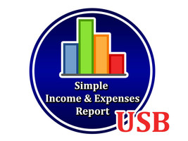 Simple Income And Expenses Report Program for Windows Bookkeeper Accountant USB - $13.17