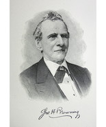 JOHN BROWNING Prominent New York Merchant - 1895 Portrait Print - $9.44
