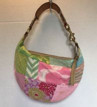 COACH Hobo Multicolor Pastel Canvas Signature Purse Shoulder Bag - $36.90