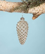 Antique Look Sanded Glass Pinecone Ornament