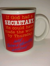Vintage Hallmark collectible coffee mug for secretaries three day weeken... - $22.76