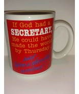 Vintage Hallmark collectible coffee mug for secretaries three day weeken... - $22.76