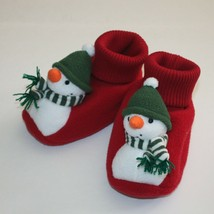 Gymboree Snow Playful Sleepwear Snowman Slippers 9 10 - $9.99