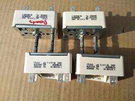 9II62 GLASSTOP BURNER CONTROLS: (2) CTL010 5.4-7.0 AMP, (2) CTL011 7.2-9... - $29.69