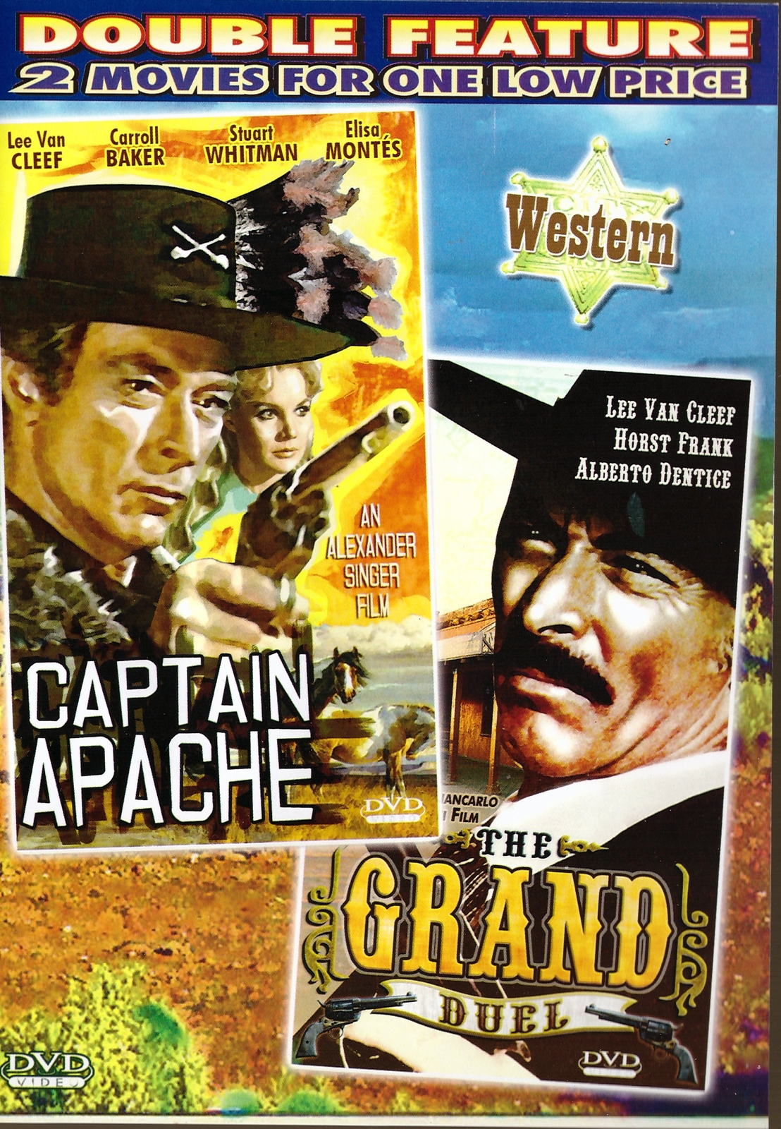 Captain apache  the grand duel dvd double feature lee van cleef western  1