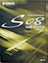 Yamaha S08 Synthesizer Original French Language Owner's User's Operating... - $14.84