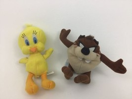 "Looney Tunes Lot Taz and Tweety Bird 7"" Plush Stuffed Toys Vintage 1997 ... - $11.53"