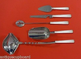 Modern Classic by Lunt Sterling Silver Cocktail Party Bar Set 5pc Custom Made - $289.85