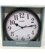 "SHARP 9 5/8"" Black  Wall Clock - $14.84"