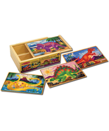 Wooden Jigsaw Puzzles in A Box Dinosaur NEW - $13.68