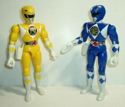 "Vintage 8"" Yellow 1993 & Blue 1994 Bandai Power Ranger Action Figures - $19.95"