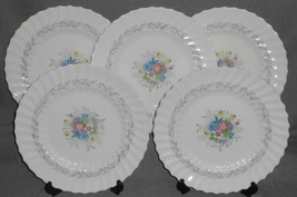 Set (5) Royal Doulton WINDERMERE PATTERN Bone China DINNER PLATES England - $158.39