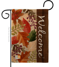 Autumn Leaves Burlap - Impressions Decorative Garden Flag G163082-DB - £16.70 GBP