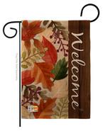 Autumn Leaves Burlap - Impressions Decorative Garden Flag G163082-DB - $22.97