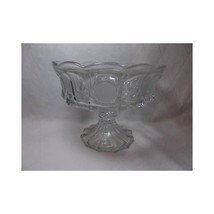 Fostoria Glass LIBERTY COIN PEDESTAL COMPOTE dish 1887 Eagle & Torch fru... - $46.27
