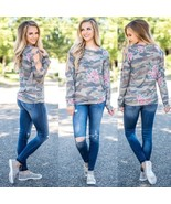 "Fashion Women""s Cotton Flower Loose Long Sleeve Casual Blouse Shirt Tops... - $40.00"