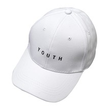 For YOUTH Letter Embroidery Cotton Baseball Cap Boys Girls Snapback Hip ... - £8.00 GBP