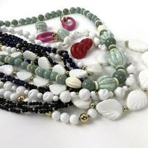 Costume Jewelry Lot Vtg Retro Plastics Boho Mod Napier Patent Necklace E... - $19.79