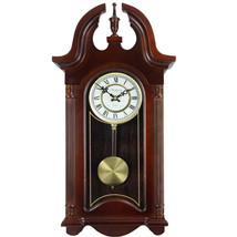 Bedford Clock Collection 26.5 Inch Chiming Pendulum Wall Clock in Coloni... - $152.08