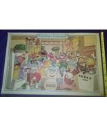 1982 WDW Disney EPCOT Center Kitchen Kabaret Place Mat Placemat Food 2 S... - $49.49