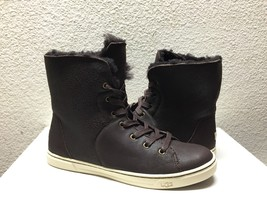UGG CROFT SHORT SHEARLING CHOCOLATE ANKLE SNEAKERS SHOE US 8 / EU 39 / U... - $88.83