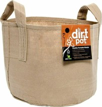 Hydrofarm 30 Gallon Tan Flexible Dirt Pot Portable Fabric Planter With H... - $33.21
