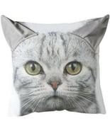 "ArtFuzz 3D Cat Printed Pillow 18"" 18X18X.5 - €28,26 EUR"