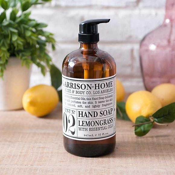 Garrison + Home HAND Soap LAVENDER ROSEMARY 32 OZ. GLASS BOTTLE MADE IN USA NEW - $34.80