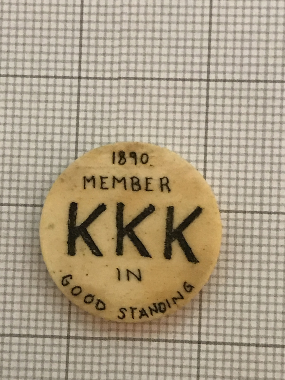 Primary image for Antique 1890 Bone KKK Member Token Good Standing
