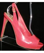 Jessica Simpson 'Barit' coral square toe buckle slingback platform heels 7B - $31.47
