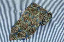 Bill Blass Men's Muted Victorian Geometric Printed Silk Necktie 56 x 3.5... - $8.99