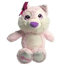 "Tutu Sweets 12"" Pink Wolf Plush Stuffed Animal Scoops Emblem on Foot Pur... - $9.89"