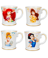 Disney Store Princess Signature Mug Belle Cinderella Ariel Snow White 2018 - $66.59+