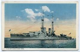 USS New York US Navy Battleship Ship 1915c postcard - $6.44