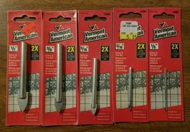 VERMONT AMERICAN CARBIDE CHINA, GLASS, MIRRORS, MARBLE TILE DRILL BITS 5... - $14.66