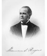 SHERMAN S. ROGERS New York Lawyer - SUPERB Portrait 1877 Antique Print - $13.86