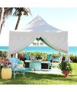 Outdoor Patio Gazebo w/ Scalloped Edges and Tassles 10'x10' Backyard Can... - €335,43 EUR