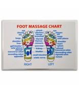 REFLEXOLOGY FOOT MASSAGE WALLET SIZE REFERENCE CARD Chart Pocket Acupres... - $5.95